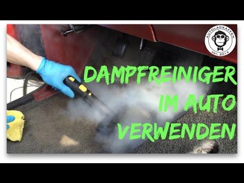Innenraumreinigung mit Dampfreiniger // Autopflege # 15