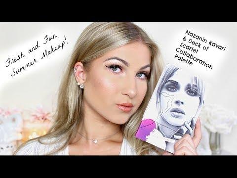 Easy Fresh and Fun Summer Makeup!! FEAT. NAZANIN KAVARIS PALETTE!