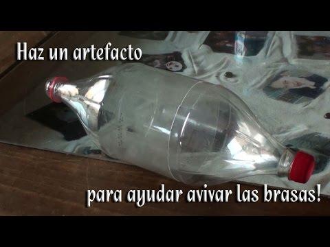 Como hacer un artefacto para avivar las brasas en nuestra fogata o asador