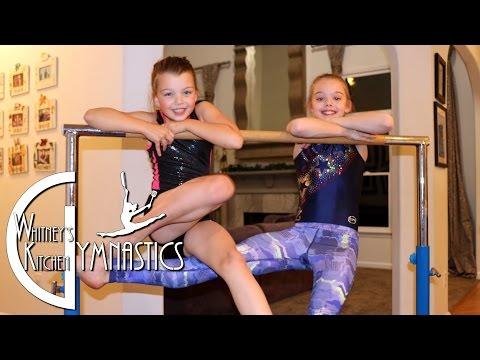 Blakely on Bars! | Whitney's Kitchen Gymnastics