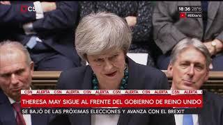Theresa May superó la moción de confianza | Kholo.pk
