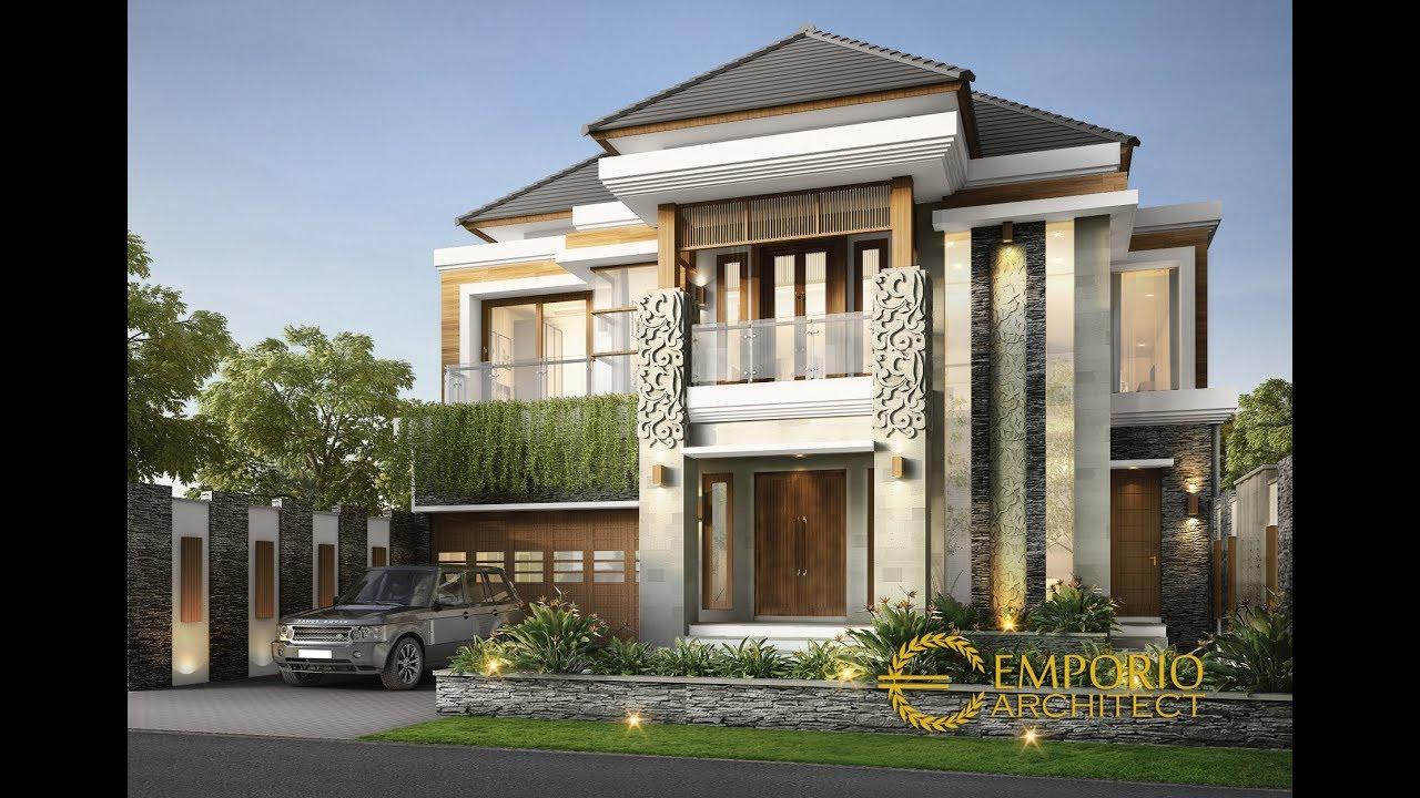 Video 3D Desain Rumah Villa Bali 2 Lantai Ibu Dewi di Bandung
