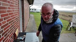 Campingdusche Warmwasserbereiter Durchlauferhitzer unboxing und Test