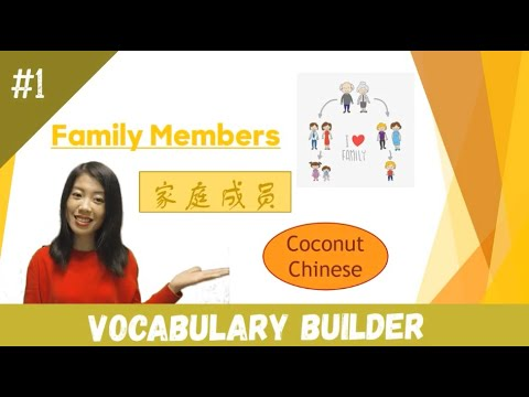 "Watch and learn Chinese vocabulary about ""Family Members""(家庭成员)."