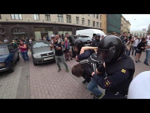 Петербург против повышения пенсионного возраста 9.09 — митинг Плошадь Ленина