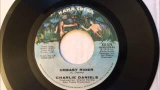 Uneasy Rider , Charlie Daniels , 1973 Vinyl 45Rpm