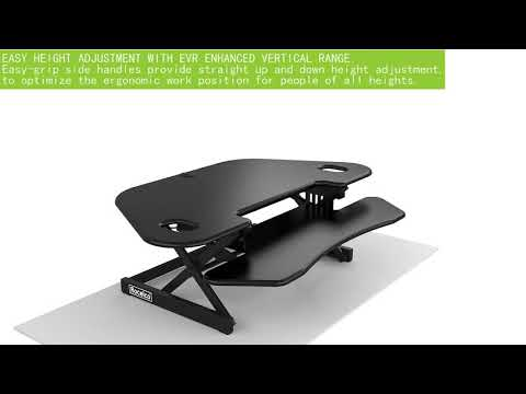 Rocelco CADR-46 – Sit Stand Corner Desk Riser