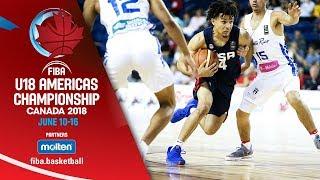 Puerto Rico v USA - Group Phase - Re-Live (ENG) - FIBA U18 Americas Championship 2018 - ENG
