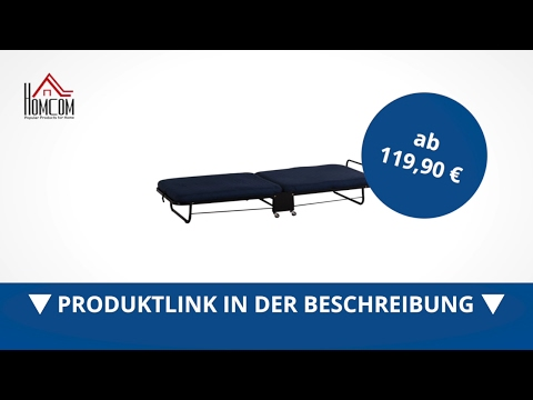 Homcom Gästebett Klappbett Sofabett mit Matratze klappbar verstellbar  - direkt kaufen!