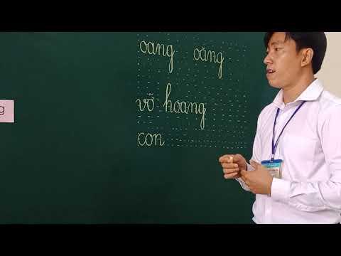 Môn Học vần lớp 1, bài oang - oăng (GV Trần Thanh Tấn, Trường TH C Phú Mỹ)