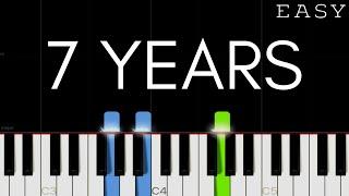 Lukas Graham - 7 Years | EASY Piano Tutorial