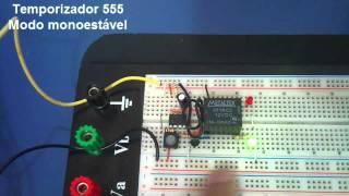 Temporizador 555: Modo Monoestável