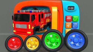 Learn Colors with Red Fire Truck Street Vehicle Toys Assembling Car and Surprise Eggs | ZORIP
