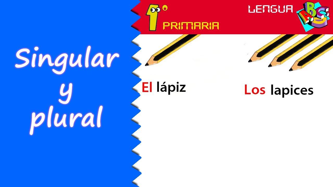 Lengua Castellana. 1º Primaria. Tema 8: El número: Síngular y Plural