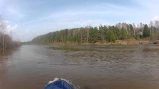 Бочка на плотине р.Великая Никольская ГЭС. Щука-3