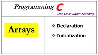 arrays in c programming | declaration and initialization |