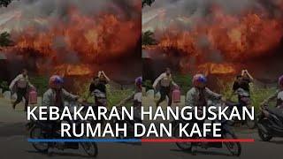 Kebakaran Dekat Istano Basa Pagaruyung Tanah Datar, Hanguskan Rumah, Kafe dan Warung Makan