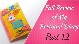 My Personal Diary (Part 12)😊 | Handmade Diary Decoration Ideas | Bullet Journal | Diary Decorations