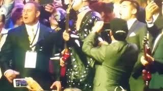 KISS singer Gene Simmons plays I Wanna Rock 'n' Roll All Night at JT Foxx Mega Success in LA today ☺