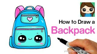 How to Draw a Backpack Cute and Easy   Back to School Supplies
