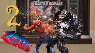 """Thanks to Big Bad Toy Store http://www.bigbadtoystore.com/?utm_so...   This video is not intended for viewers under 13 years of age. Dark themes and mild violence. Venom is back and as buff as ever!  The Battle Royale games are happening again and this time it's interrupted by Venom as he proposes a punch on session with The Amazing Spider-Man action figure. The competition takes on a new twist when the action figures owner, Stefan, walks in on them…  Starring Avengers Action Figures: The Amazing Spider-Man, Venom, Superior Spiderman, Black Panther, Deadpool, The Original Spiderman, Antman, War Machine, Ironman Mk 50, Egg Attack Spider-Man, Home Coming Spider-Man, Ironman Mark 42, Carnage, Hulk, Buzz Lightyear, Woody and Captain America. Venom's vocal sound FX thanks to the multi talented DG!  Of """"DGDX Animation""""  Check his work out here on his channel https://www.youtube.com/user/DGDXanimation  Venom visual effects by:   https://www.productioncrate.com/  Help support this channel by becoming a LOZAUS patron  https://www.patreon.com/user?u=2432040   For other stop motion videos, Check out...  IN CHRONOLOGICAL ORDER https://www.youtube.com/playlist?list...  SPIDERMAN STOP MOTION ACTION FIGURE SERIES https://www.youtube.com/playlist?list...  the new Spider-Man STOP MOTION ACTION SERIES https://www.youtube.com/playlist?list...  IRONMAN STOP MOTION SERIES https://www.youtube.com/playlist?list...  BABY SPIDEY STOP MOTION SERIES https://www.youtube.com/playlist?list...  SCARBU STOP MOTION SERIES https://www.youtube.com/playlist?list...                         Music by epidemicsound.com                                            jewelbeat.com                                     & videocopilot.com  Most sounds were made by us, purchased from videocopilot.com and some need to be credited to the following members/users of freesound.org.  Those members and sounds are as follows  freemaster2__thunderstorm-loud  wolffvisuals__wiping-window  swosh.aif by man  Cinematic Bass Boom """