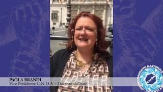 Vice Presidente C.N.D.A Paola Brandi  Intervento Integrale Sciopero