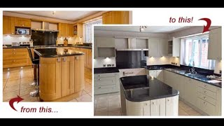 Great Video showing how to spray kitchen cabinets