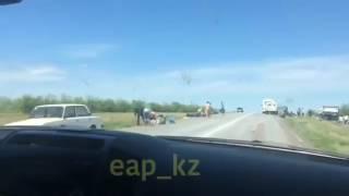 ДТП в Актобе, перевернулся автобус, погибли люди