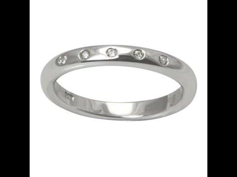 """Diamant Ring """"5 Stars"""" 0,05 Karat (Weißgold 585)"""