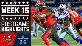 Buccaneers vs. Cowboys | NFL Week 15 Game Highlights