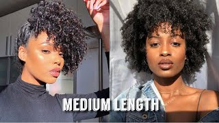 MEDIUM LENGTH NATURAL HAIRSTYLES COMPILATION | CURLY HAIR | BeautyExclusive