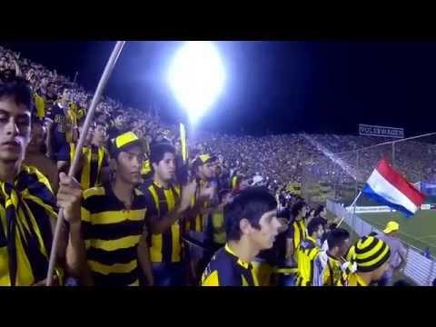 """La  Hinchada Aborigen Guarani vs Racing I."" Barra: La Raza Aurinegra • Club: Guaraní de Asunción"
