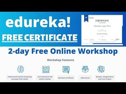 Edureka Free Online Workshop With Certificate | Work On Live Project |2-day Online Workshop@edureka!