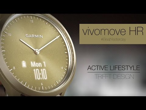 Garmin vivomove HR Premium (43mm, Acier inoxydable)
