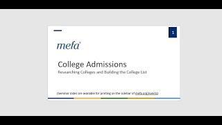 Researching Colleges and Building the College List