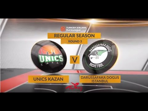 EuroLeague Highlights RS Round 3: Unics Kazan 87-94 Darussafaka Dogus Istanbul