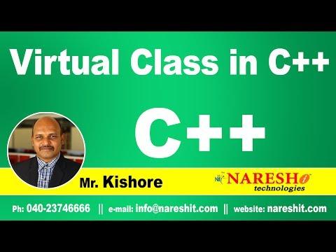 Virtual class in C++ | C++ Tutorial | Mr. Kishore