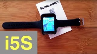 "BAKEEY I5S Large Rectangular 2.2"" Screen Dual-Mode Convertible WATCH/PHONE: Unboxing & Review"