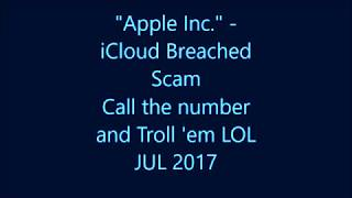 Apple Inc. - ICloud Breached Scam