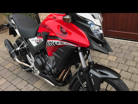 2016 Honda CB500X and new Adventure gear