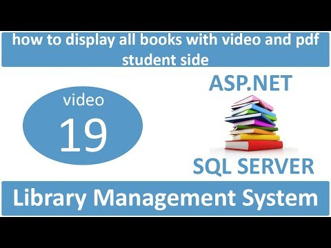 how to display all books with video and pdf student side in asp.net lms