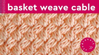 Diagonal Basket Weave Stitch | Cable Knitting Pattern
