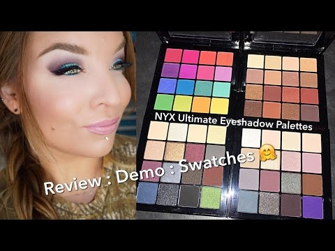 NYX Ultimate Eyeshadow Palettes : Review : Demo : Swatches