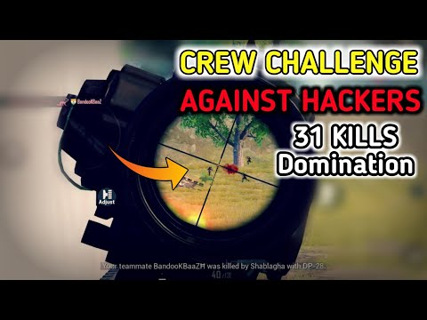 पूरा खेल बिगाड़ दिया 😡 - crew challenge against Hackers on High ping - pubg mobile Hindi Gameplay