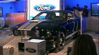 Paul Teutul SR vs JR - Ford Shelby Mustangs battle real-drag-racing simulator at Barrett Jackson