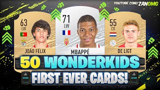 TOP 50 Wonderkids FIRST AND PRESENT FUT Cards! 😱 | FIFA 10 - FIFA 20