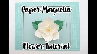 DIY Paper Magnolia Tutorial | Template #28 | Pearl Paper Flowers