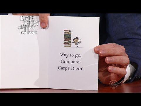 Late Show First Drafts: Graduation 2017