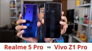 Realme 5 Pro vs Vivo Z1 Pro Comparison Review, Camera, Battery | Asli Pro kaun ? Hindi