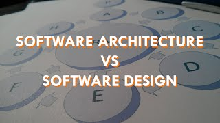 Difference Between Software Architecture and Software Design   Scott Duffy
